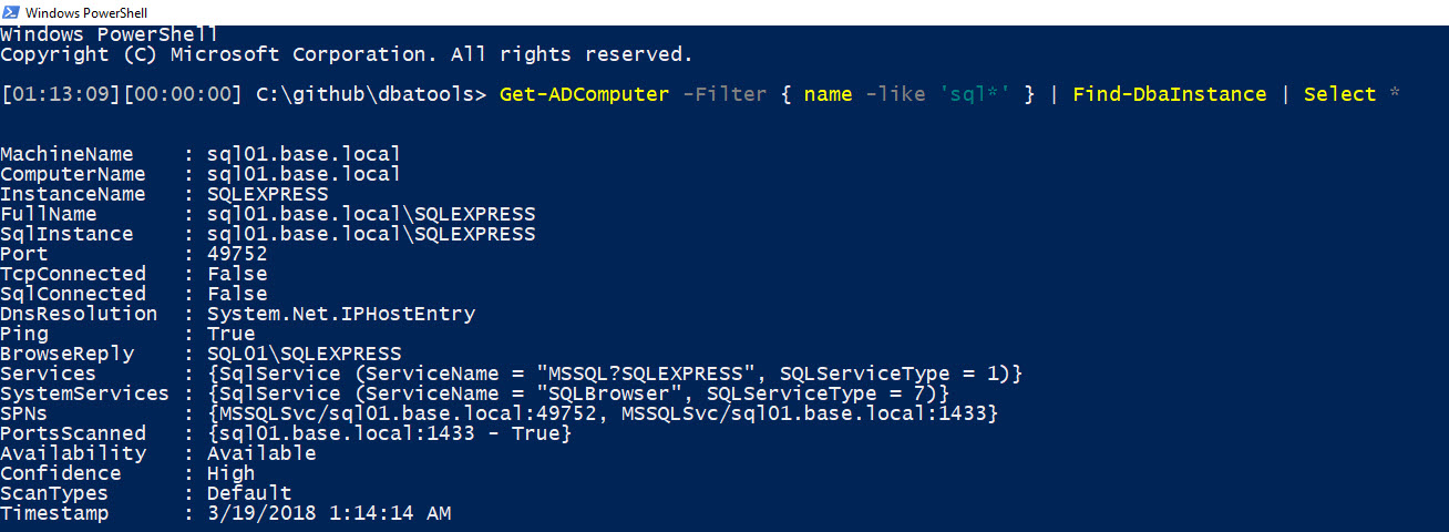 a new command to find all of your sql instances – dbatools